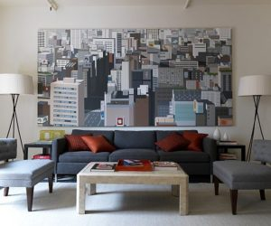 Decorate with large artwork