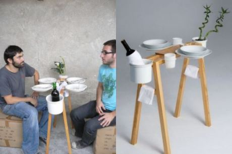 Funny minimal dining table for Dining table solutions for small spaces