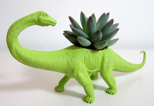 Playful Dinosaur Planters