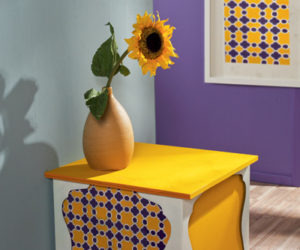 Colorful DIY Oriental Side Table