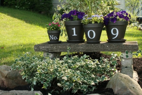 Awesome Ingenious DIY House Numbers Of Flower Pots