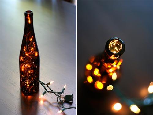 Beautiful DIY Wine Bottle Lantern