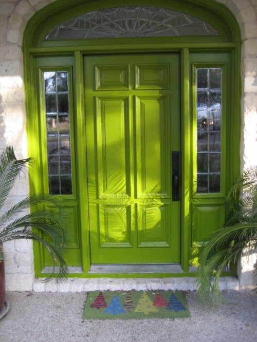 Green Front Doors; Showcasing the Environment..!