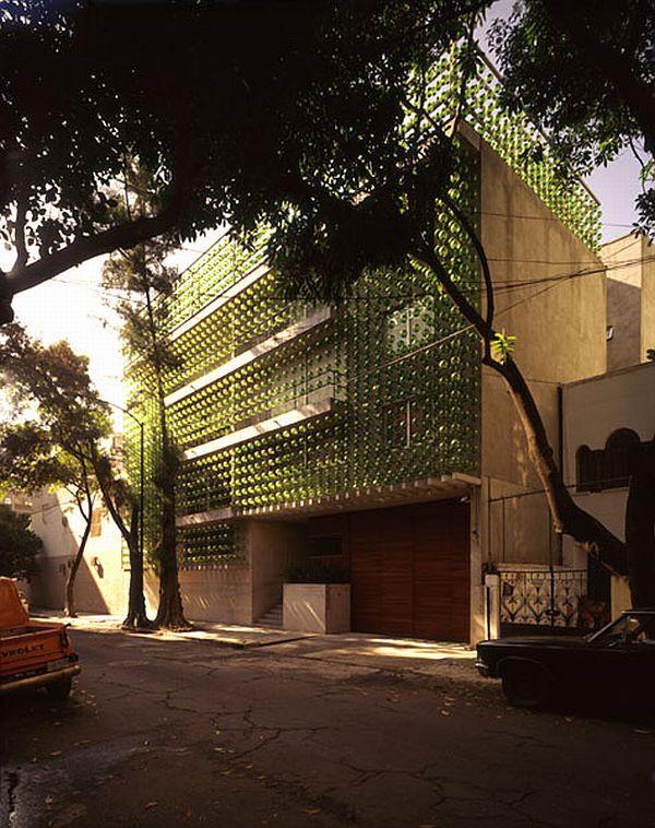 Unusual Building Façade In Mexico City