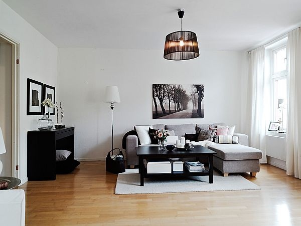 A warm interior design with ikea furniture for Interior decoration with pictures