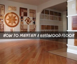 How to maintain a hardwood floor