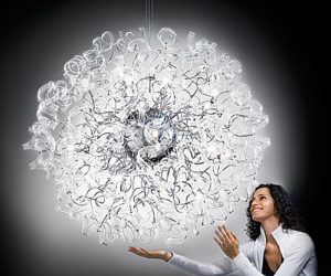 Lilac Astro Chandelier by Metallux