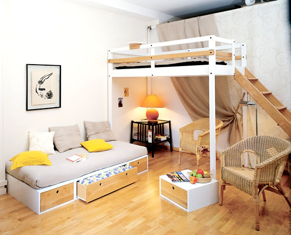 Wonderful Bedroom Furniture Design For Small Spaces Part 19