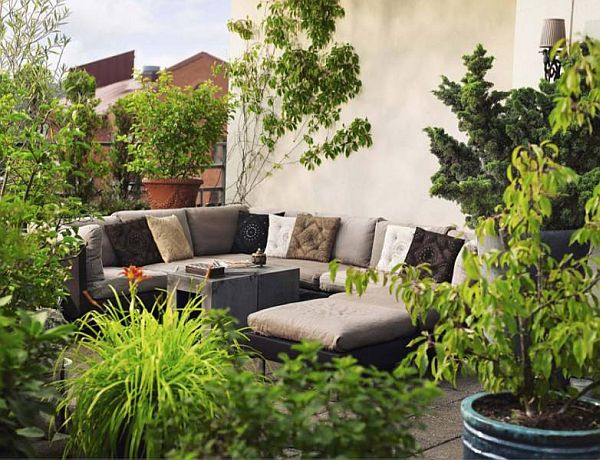 How to decorate the patio with plants for Pictures of decorated small patios