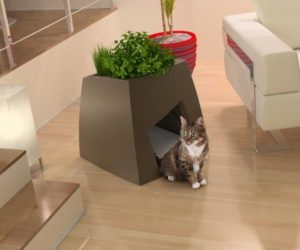 Superb Elegant Kitchen Herb Planter Pots By Toyo · A Modern Planter For You And A  Comfy House For Your Pet