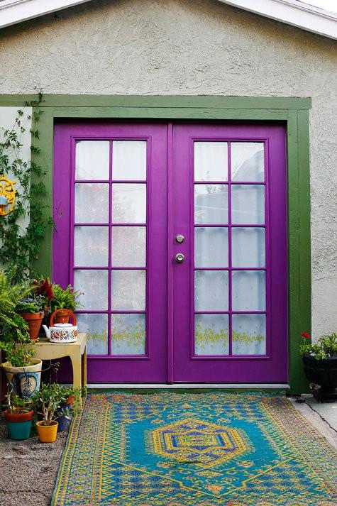 View in gallery. A purple color front door ... & Cool Purple Color Front Door Ideas