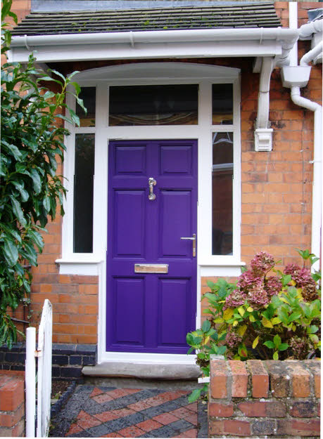 Cool purple color front door ideas for Front window ideas