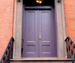 Cool Purple Color Front Door Ideas