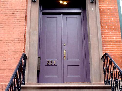 Cool Purple Color Front Door Ideas