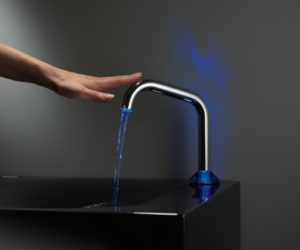 Touch faucet with LED lights