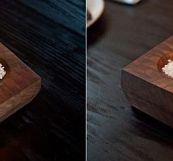 Lovely DIY Wood Bud Vase And Salt Dish