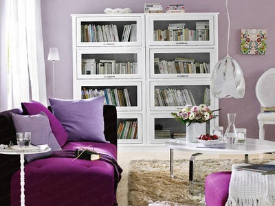 Purple Living Rooms purple living room design