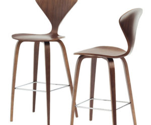 wood base stools from cherner chair company