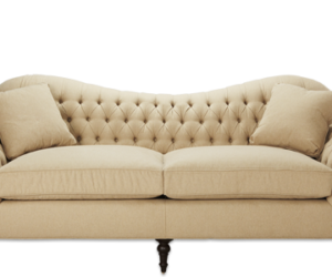 Two Seater Upholstered Sofa With Removable Cover - Arhaus club sofa