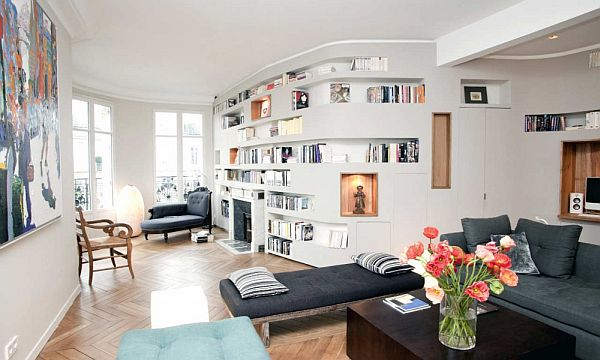 140 sqm private flat in paris by ppil for Decoration murale verticale