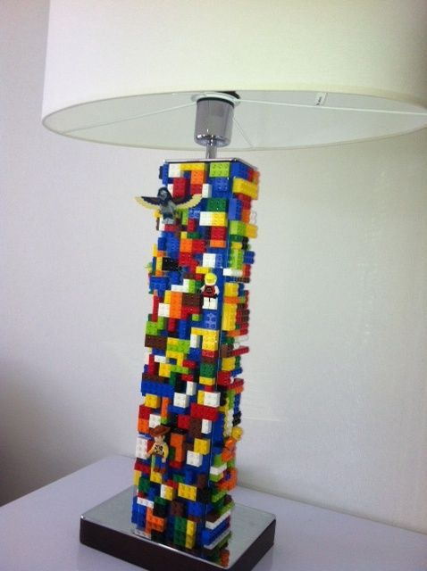 Amazing lamp made from lego parts