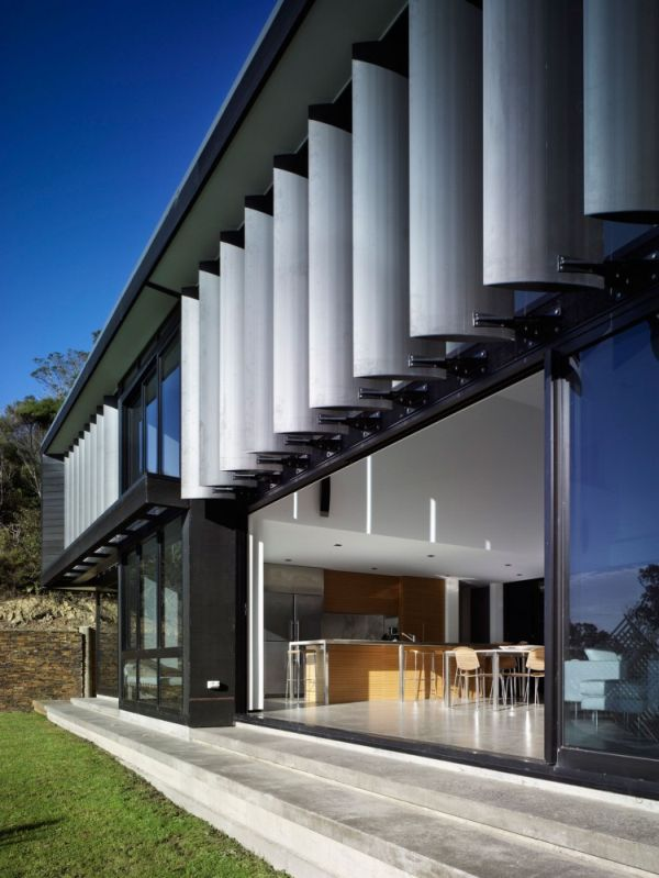 The House Was Designed To Blend In With The Landscape And Be Empathetic To  The Fauna. The Stone Walls Were Sourced Locally, The Windows Are Tinted To  Limit ... Nice Ideas