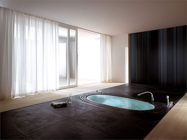 sorgente built in whirlpool bathtub by teuco guzzini video. Black Bedroom Furniture Sets. Home Design Ideas