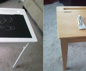 8 Easy To Build Chalkboard Desks For Kids
