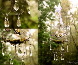 Beautiful DIY Chicken Wire Chandelier
