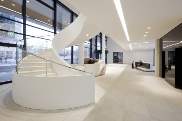 elegant office white view in gallery clean elegant office interior by landau kindelbacher architects