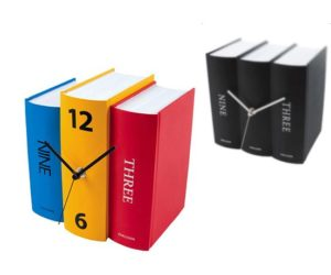 Colorful, Playful Table Clock Book by Karlsson Clocks