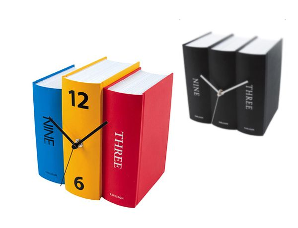 Colorful, Playful Table Clock Book By Karlsson Clocks Photo