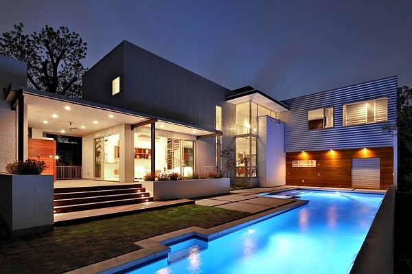Contemporary laurel residence in houston texas