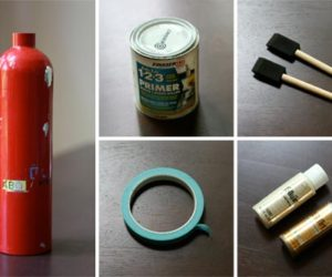 DIY Fire Extinguisher Vase