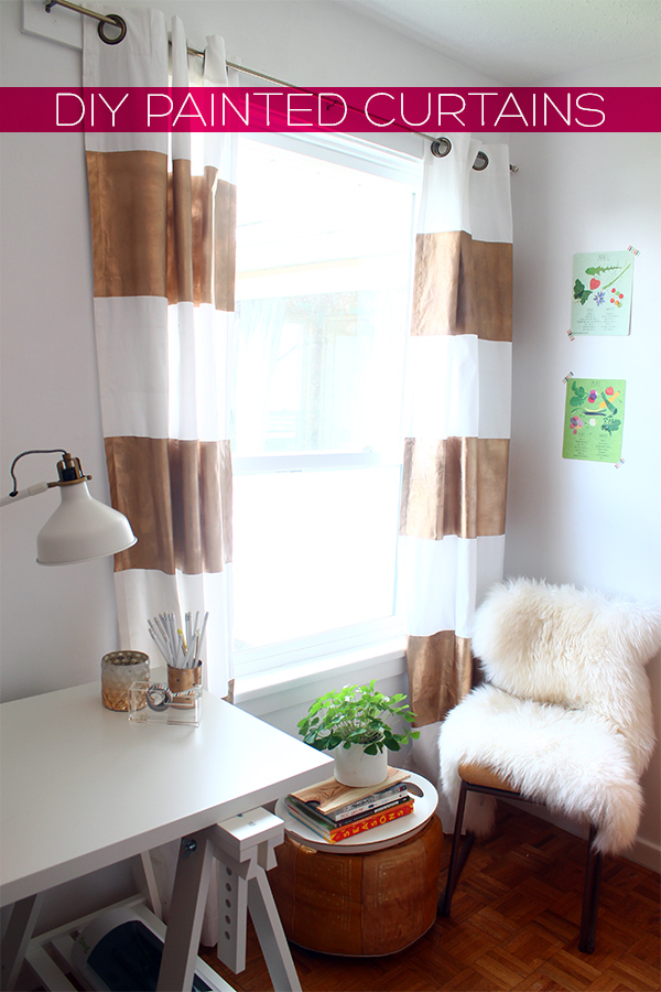 Diy painetd curtain