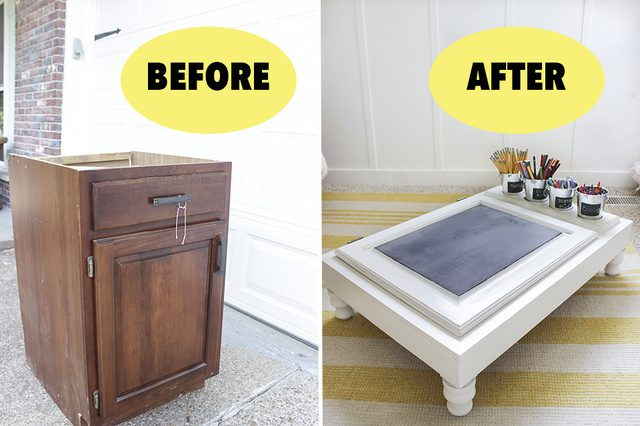 From cabinet to coffee table