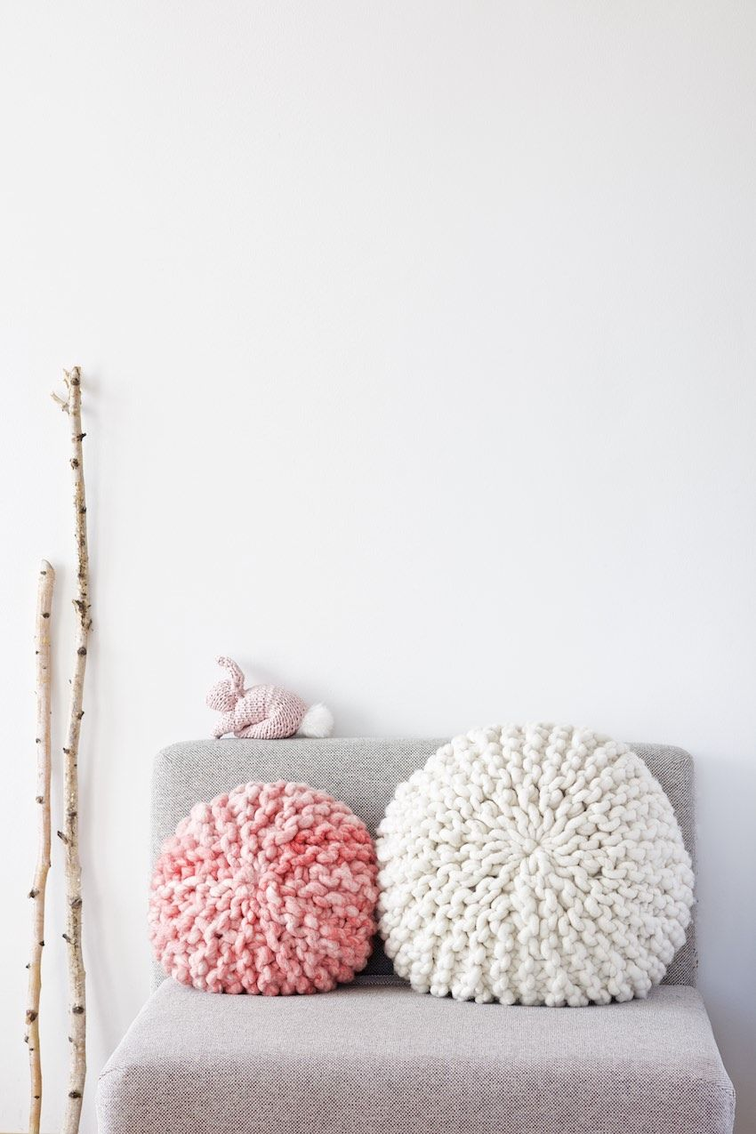 Funky crochet pillow