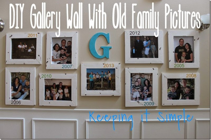 Gally with old family pictures on wall