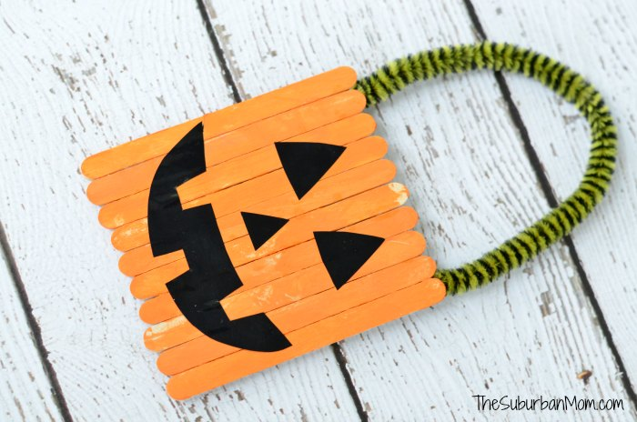 Halloween Pumpkin Popsicle Stick