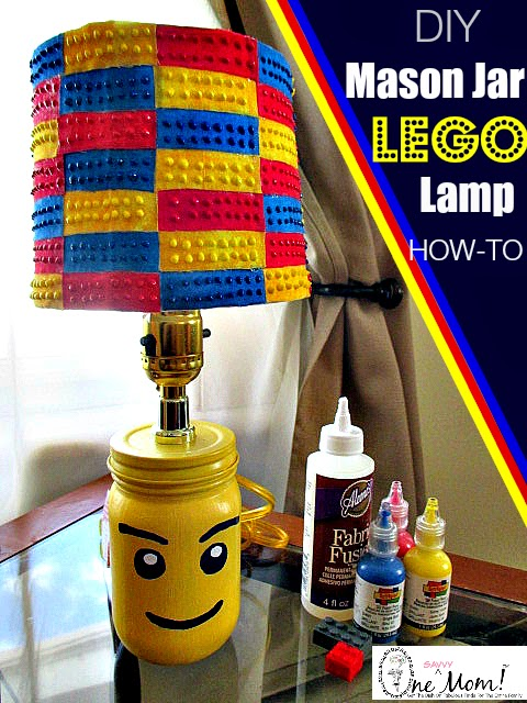 How To Make A Lego Minifigure Lamp With A Mason Jar + Lego Brick