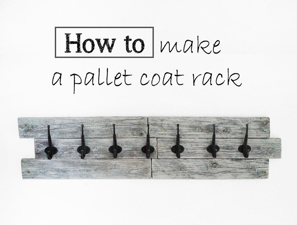 How to make a pallet coat rack