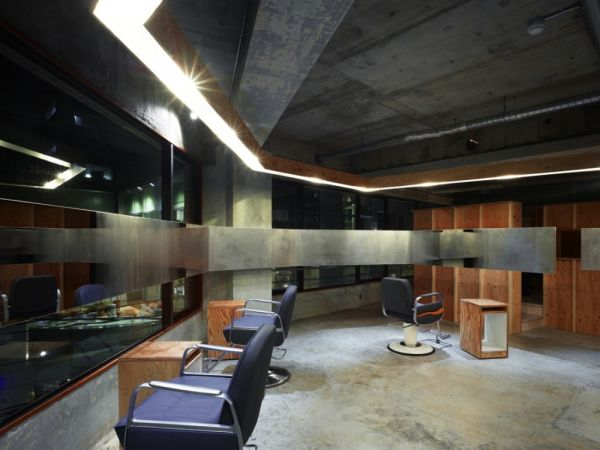 impressive lodge hair salon by suppose design office