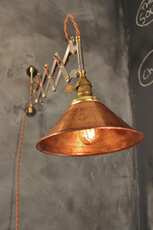 Industrial lighting vintage steel