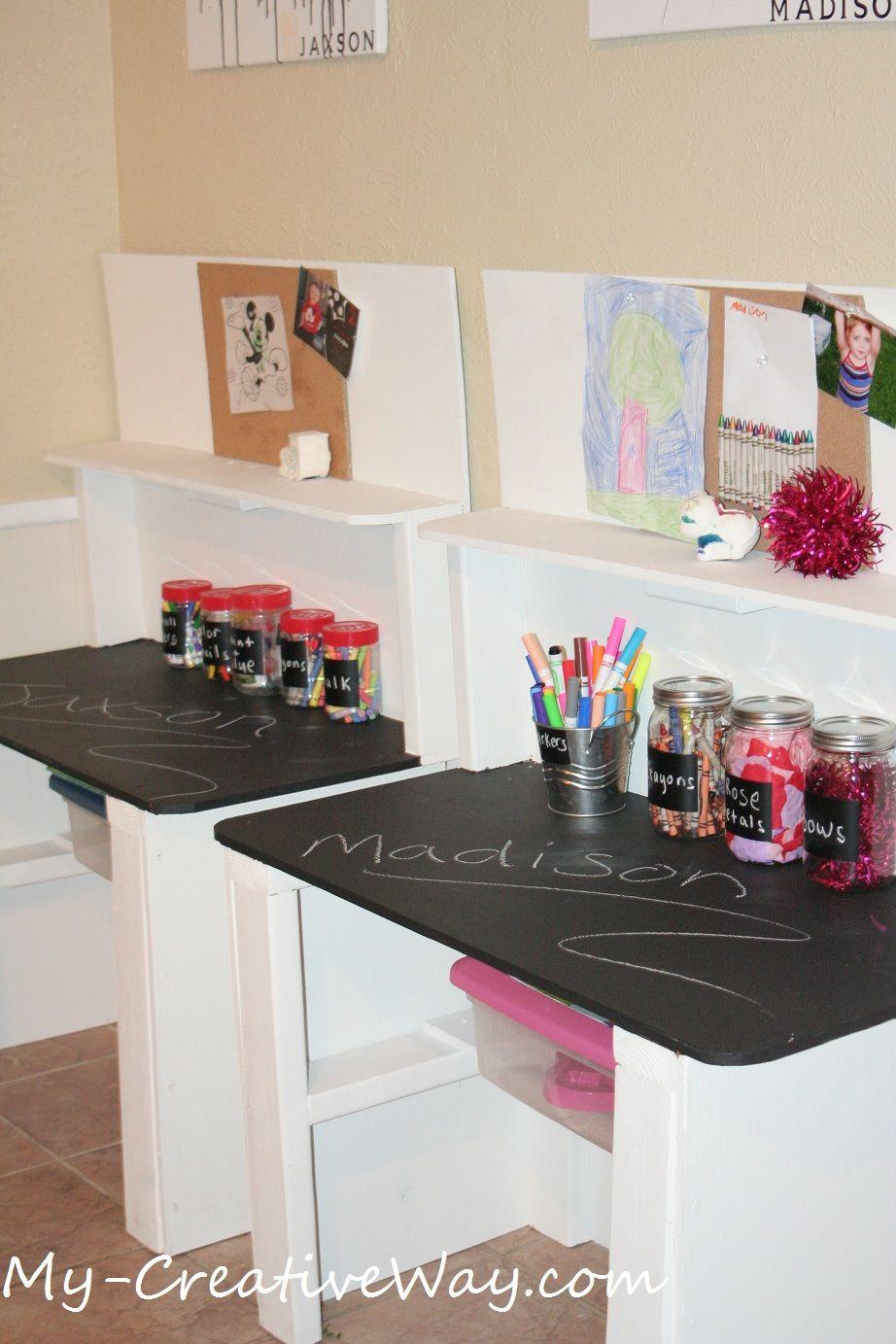 Kids Chalkboard Tables