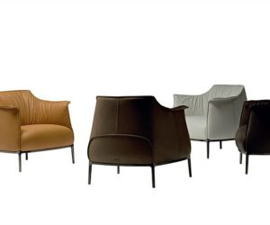 Archibald Leather Armchair by Jean-Marie Massaud