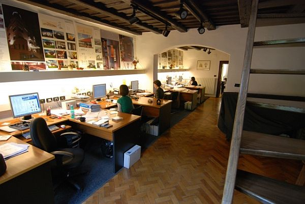 loft office. contemporary office to loft office