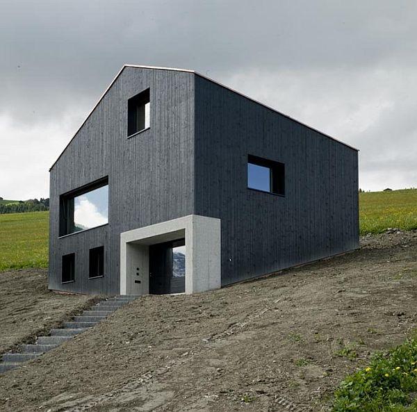 the lumbrein residence in graubunden switzerland. Black Bedroom Furniture Sets. Home Design Ideas