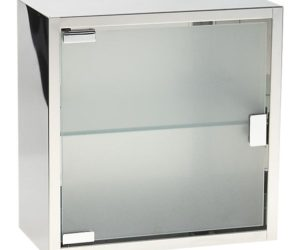 Steel and Glass Medicine Cabinet from Crate&Barrel