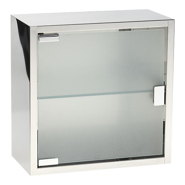 Steel And Glass Medicine Cabinet From Cratebarrel