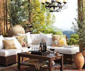Comfortable Mediterranean Fruit Decoupage Outdoor Pillows